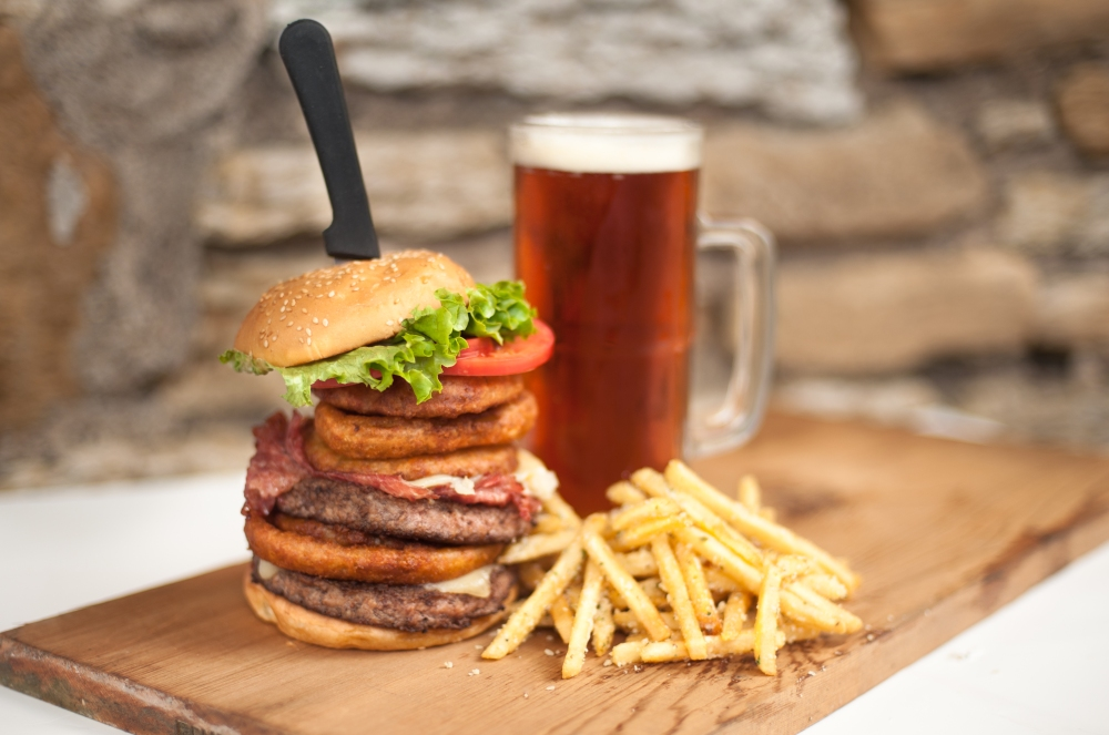 Burgers and beer are the perfect combination
