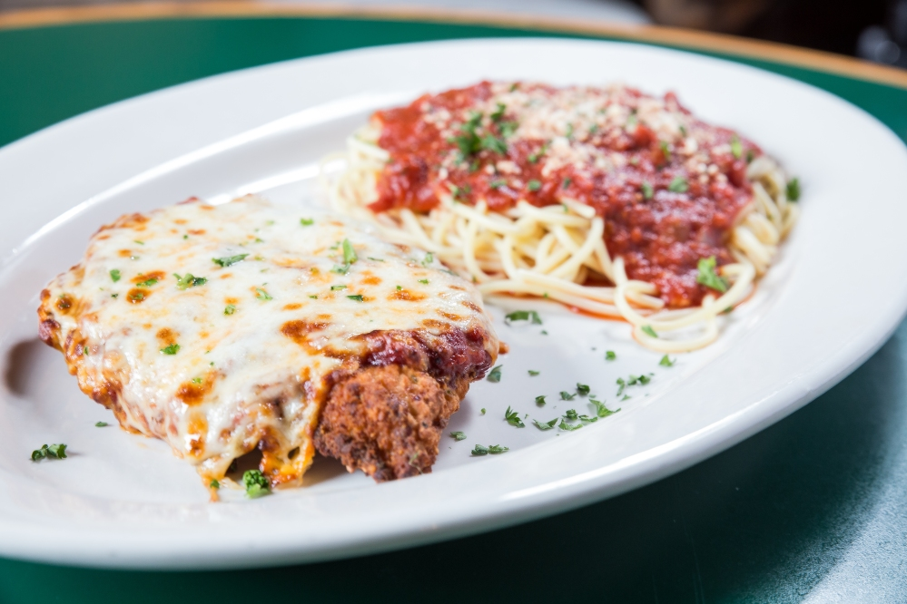 Chicken parmesan is a popular delivery food from Bite Squad