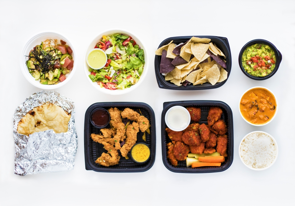 dips, Inidan, chicken and salads from Bite Squad