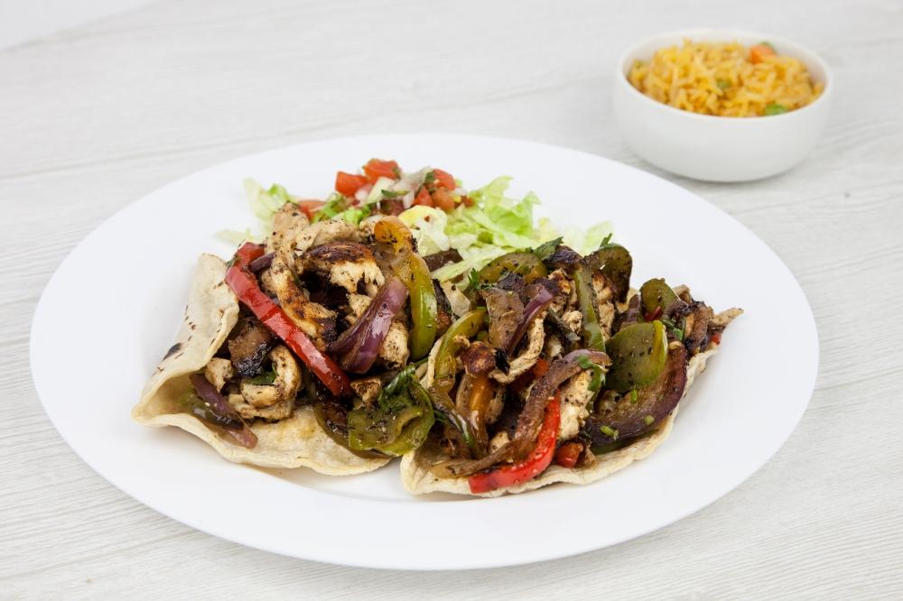 Chicken fajita tacos for delivery from Bite Squad