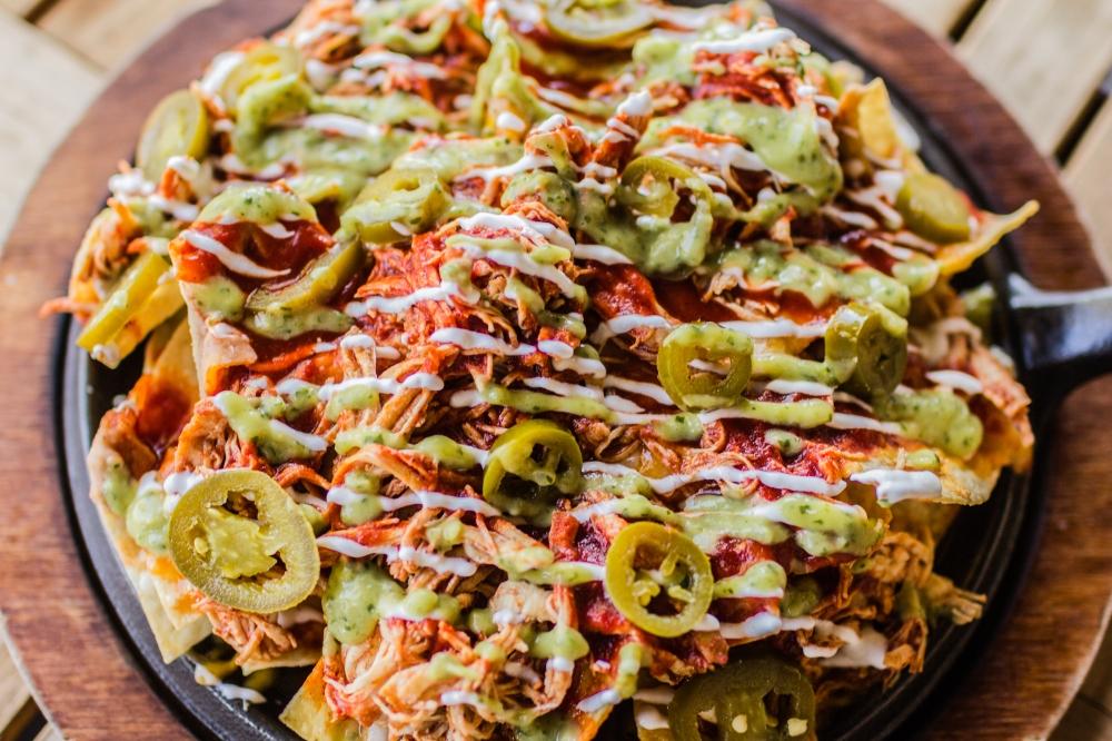 Enchilada Nachos for delivery
