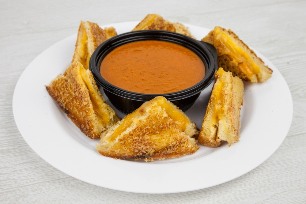 Grilled cheese and tomato soup for delivery