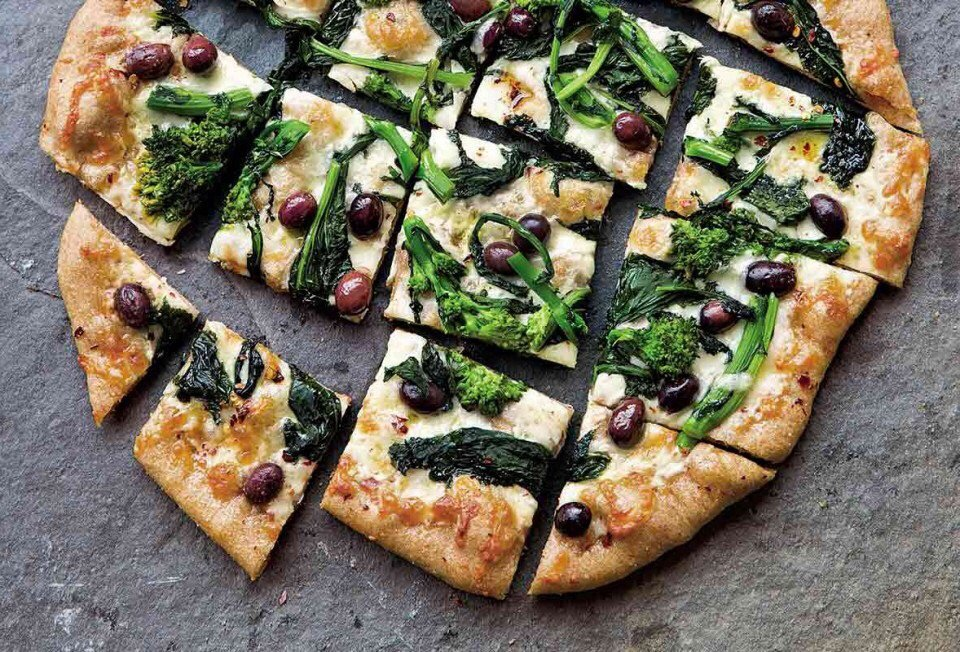 Spinach and Feta Artisan Pizza