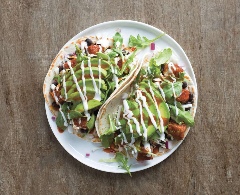Vegetarian tacos for delivery from Bite Squad