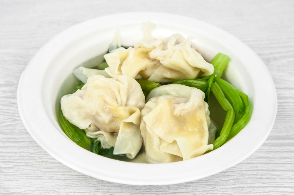 Wonton soup with your Chinese delivery