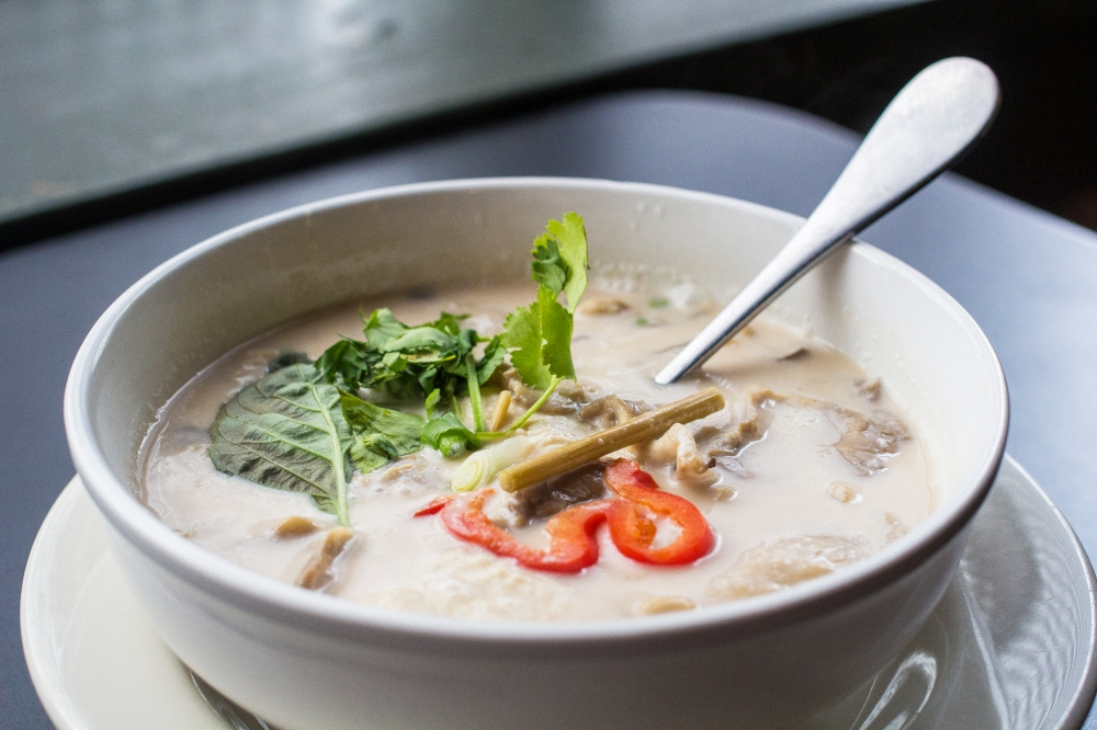 Tom Kha Kai or coconut milk soup for delivery