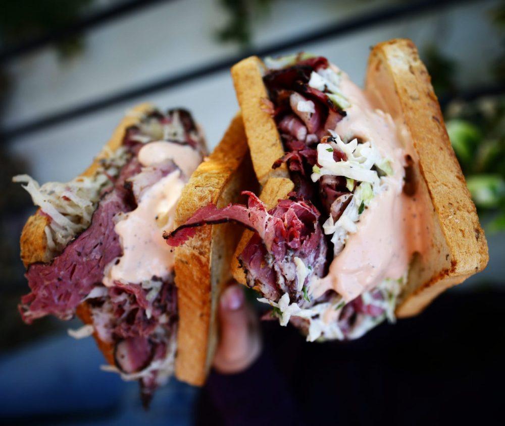 Pastrami Ruben sandwich