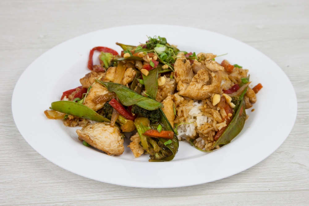 Order your favorite stir fry over rice for delivery